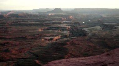 Sunset Soda Springs Basin Green River Canyonlands National Park — Stock Video