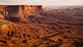 Sunset Soda Springs Basin Green River Canyonlands National Park — Stock Photo