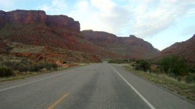 Utah Highway 128 Red Rocks Colorado River — Stock Video