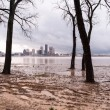 Ohio River Riverbanks Overflowing Louisville Kentucky Flooding — Stock Photo #78434382