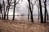Ohio River Riverbanks Overflowing Louisville Kentucky Flooding — Stock Photo