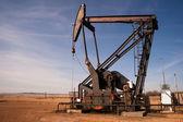 North Dakota Oil Pump Jack Fracking Crude Extraction Machine — Stock Photo