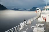 Sun Deck Cruise Ferry Boat Inside Passage Canadian Waters — Stock Photo