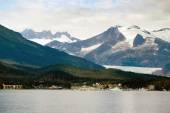 Ferry Boat View Leaving Ship Port Juneau Alaska United States — Stock Photo