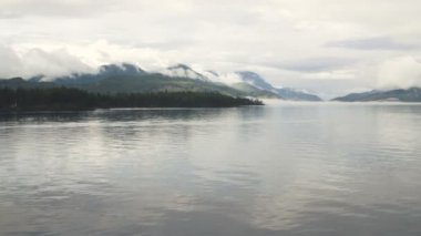 Inside Passage Smooth Calm Waters Vancouver Island — Stock Video