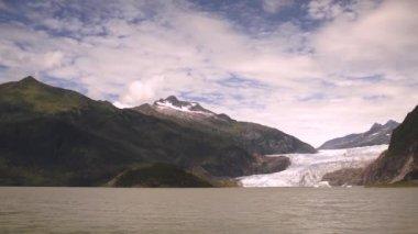 The Lake Shore at Mendenhall Glacier Alaska United States — Stock Video