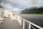 Fog Rolls in Canada's Inside Passage Passenger Ship Ferry — Stock Photo