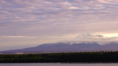 Willow Lake View Sunrise Wrangell St Elias National Park Alaska — Stock Video