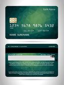 Templates of credit cards design — Stock vektor