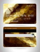 Templates of credit cards design — Vettoriale Stock