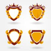Blazon design set — Stock Vector
