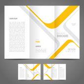 Broszura projektu szablonu paski — Wektor stockowy