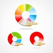 Brush colorful spectrum — Stock Vector