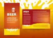 Brochure beer splash — Stock Vector