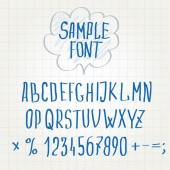 Hand font Alphabet sketch vector — Stock Vector