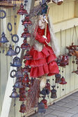 Doll-witch at the fair — Foto Stock