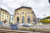 Restored old building near the railway station in Vevey, Switzer — Stock Photo