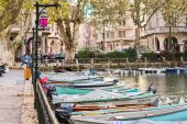 Boats on water in Annecy, France — Stock Photo