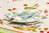 Russian thousands of rubles banknotes — Stock Photo