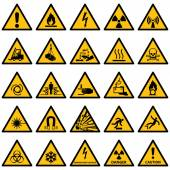 Standard Warning sign collection, High quality — Stock Vector