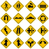 Standard Traffic sign collection. High quality — Stock Vector