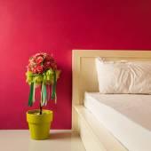 Red bedroom — Stock Photo