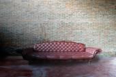 Red  sofa  in vintage room  — Stockfoto
