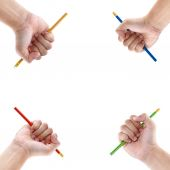 Hand holding pencil  — Stock Photo
