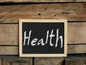 Healthy concept on blackboard — Photo