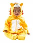 Black child boy in lion carnival suit — Stock Photo