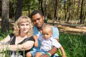 African American happy family — Stock Photo