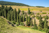 Assy plateau in Tien-Shan mountain — Stock Photo