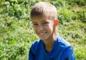 Cute little child boy in park — Stock Photo