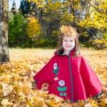 Girl  in autumn park — Stock Photo #61639607