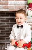 Christmas Boy gentleman — Zdjęcie stockowe