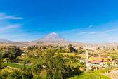 Misty Volcano in Arequipa — Foto Stock