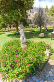 Inviting Courtyard and garden at Upscale hotel in Cusco, Peru, South America — Foto Stock