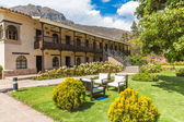 Inviting Courtyard and garden at Upscale hotel in Cusco, Peru, South America — Stock Photo