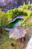 Outdoor swimming pool in upscale Hotel in Colca Canyon, Peru in South America — Stock Photo