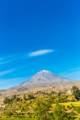 Misty Volcano in Arequipa — Stockfoto