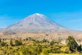 Misty Volcano in Arequipa — Stock Photo