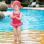 Girl near swimming pool — Stock Photo #62870963