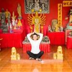 Woman praying and meditating — Stock Photo #62870981