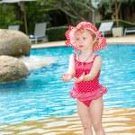 Girl near swimming pool — Stock Photo #62989269