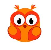 A stylized owl — Stock Vector