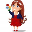 Girl with flowers — Stock Vector #79288800