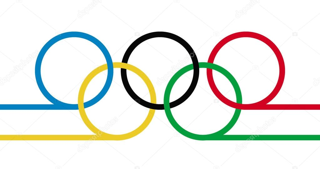 Mesmerizing olympic rings vector photos