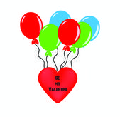 Valentine card with heart shaped balloons  -  Stock Illustration — Stock Vector