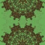 Openwork circular ornament — Stock Vector #63513743