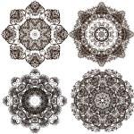 Openwork circular ornament — Stock Vector #63513767